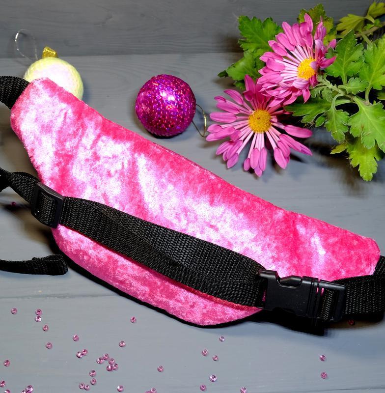 Сумка-бананка с куклой лол поясная велюровая сумка 72, сумка-б... - Фото 5