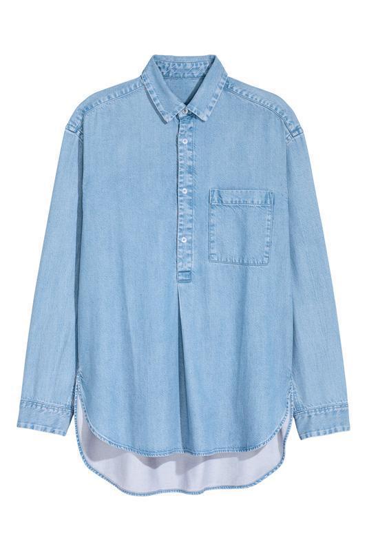 Длинная джинсовая рубашка h&m !
