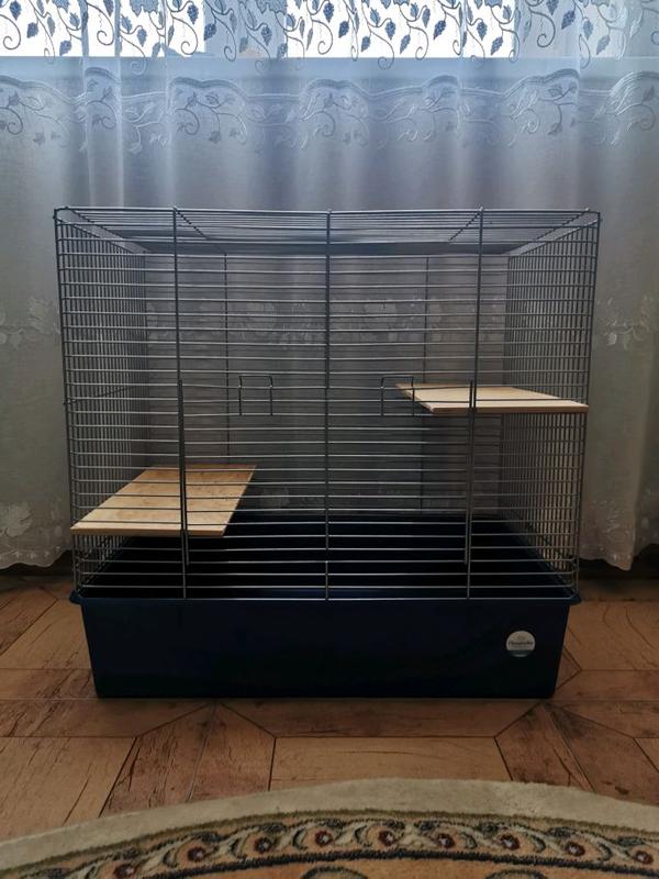 Клетка для грызунов с металлическим каркасом