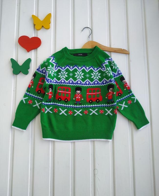 1,5-2 года, свитер новогодний,george