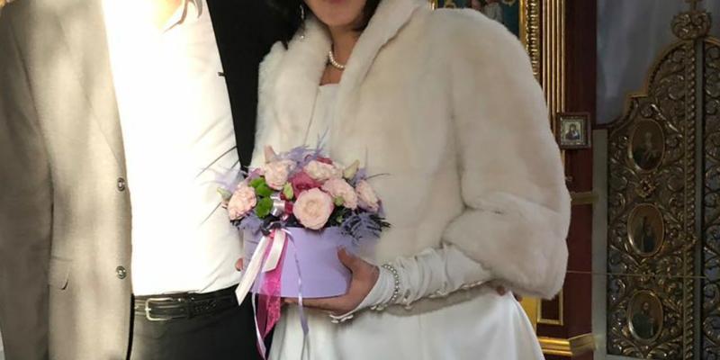 Полушубок свадебный 50-52 р болеро