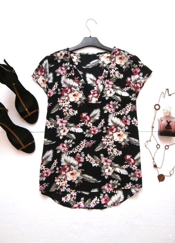 Легкая блуза в цветочный принт