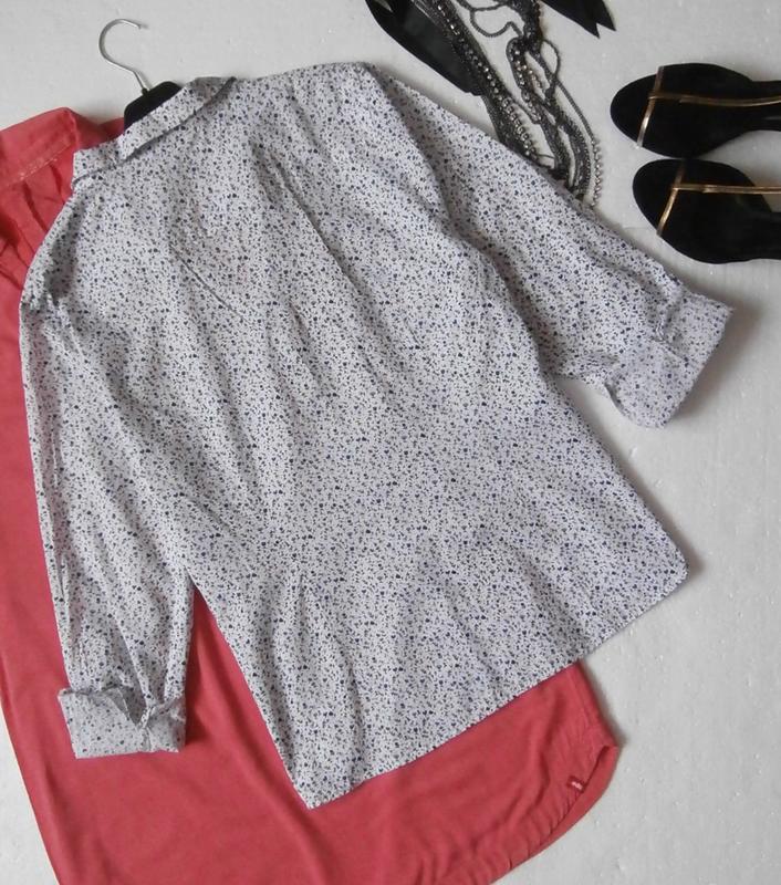 Легкая рубашка в цветочек - Фото 4