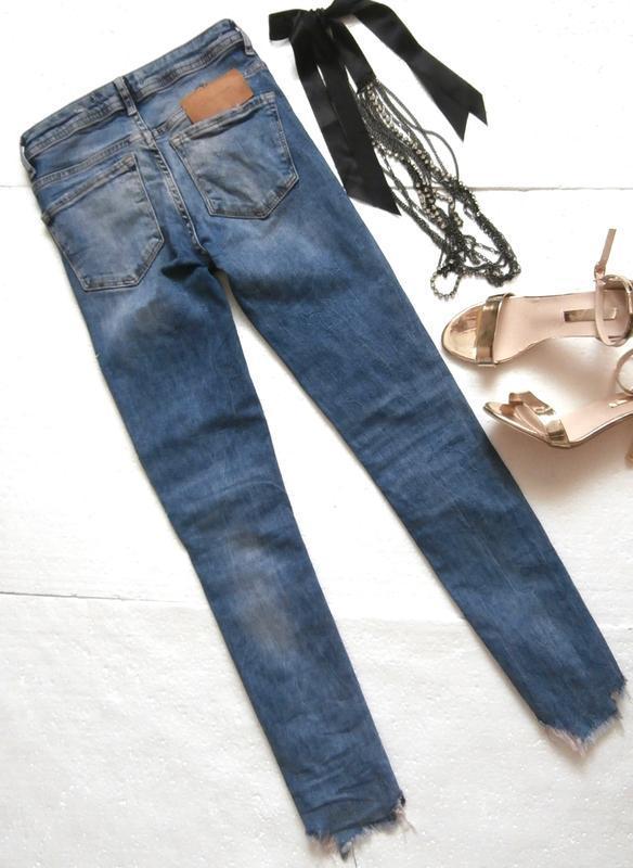 Изумительные джинсы zara с вышивкой - Фото 7