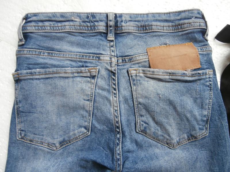Изумительные джинсы zara с вышивкой - Фото 8