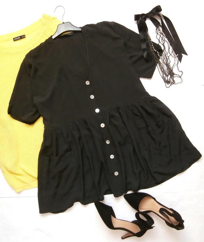 Роскошная блуза zara оверсайз с воланом, рюшей