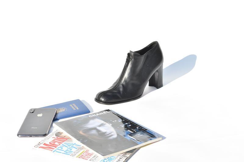 Mare италия женские туфли полусапожки кожаные черные размер 37