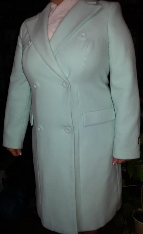пальто Bonprix демиcезонное нежно-изумрудное