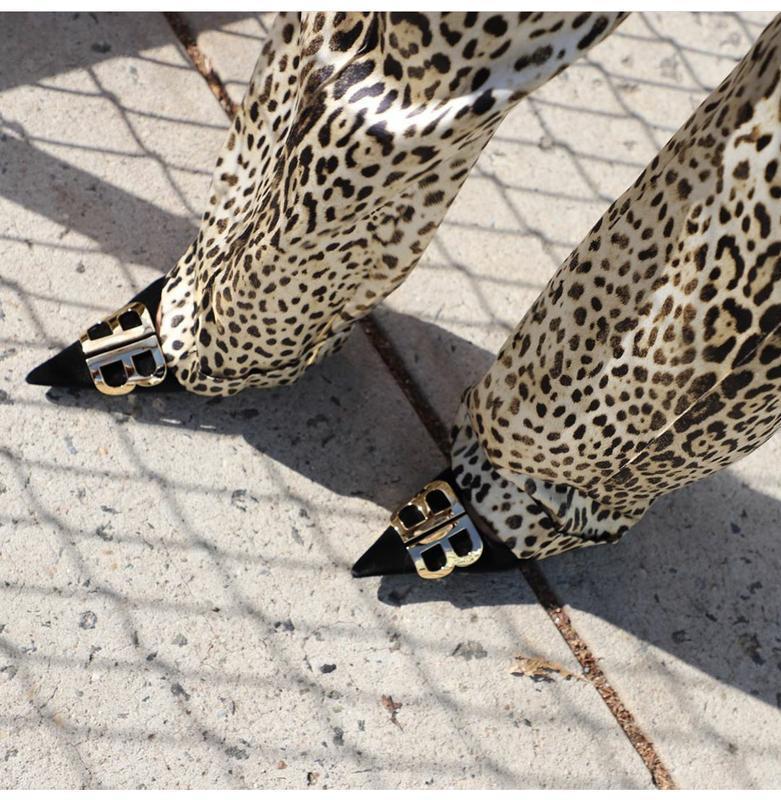 Брюки леопардовый принт silvian heach размер м