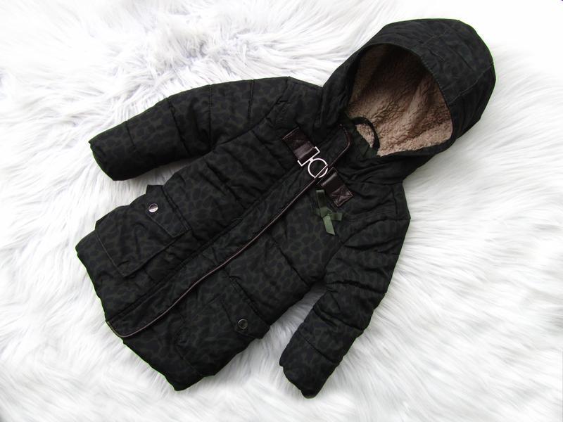 Стильная теплая куртка парка с капюшоном love
