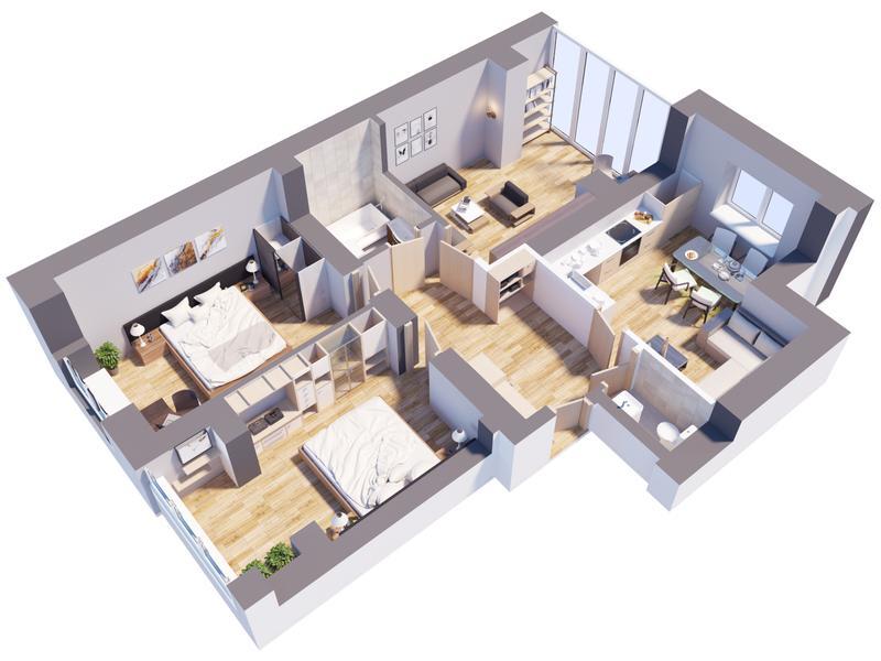 3D планировка квартиры/дома // 3D визуализация