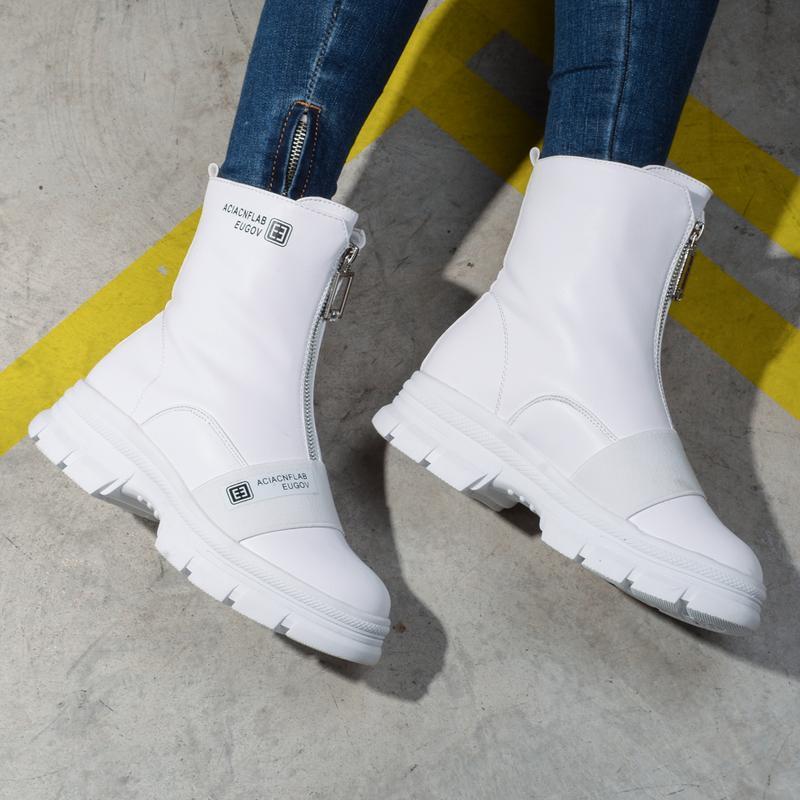 Шикарные белые ботинки ботики - Фото 3