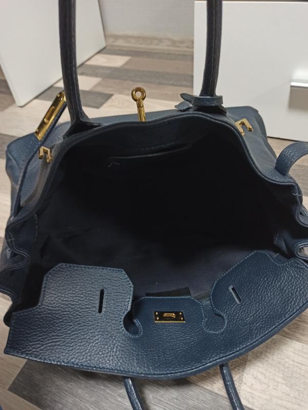 Большая кожаная сумка borse in pelle италия