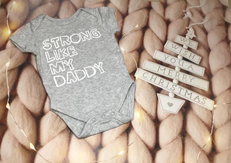 """Боди """"strong like daddy"""" от george"""