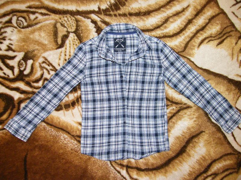 Фланелевая рубашка rebel by primark на рост 116-122см