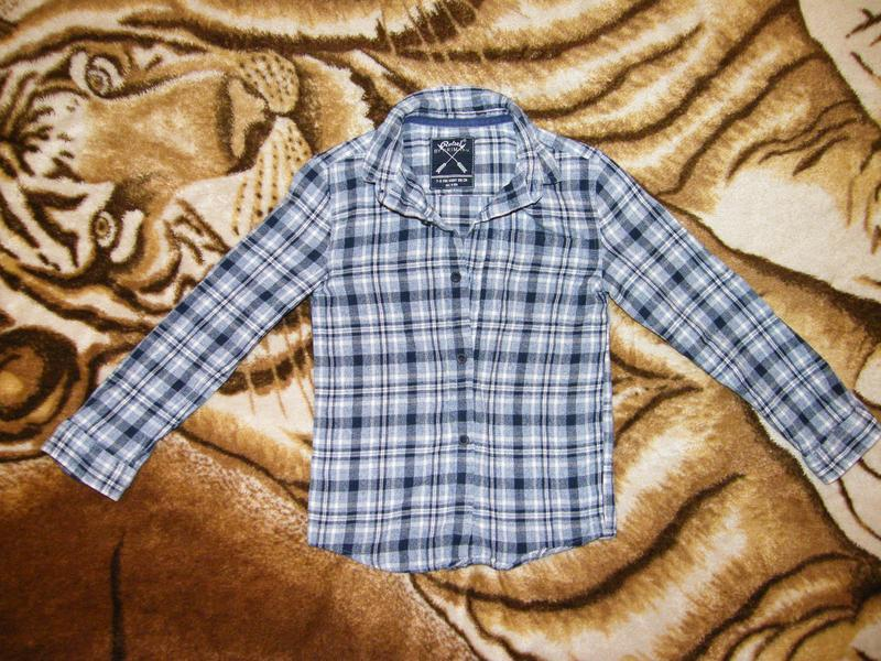 Фланелевая рубашка rebel by primark на рост 116-122см - Фото 2