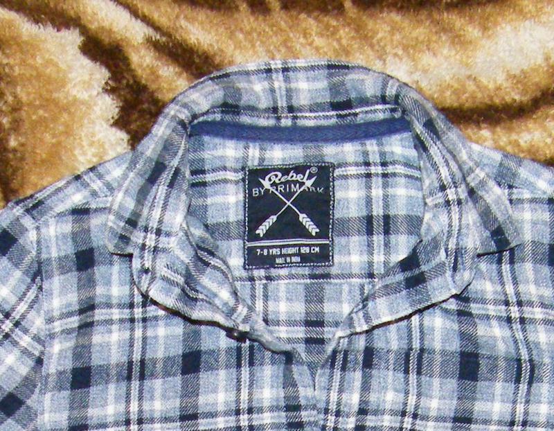 Фланелевая рубашка rebel by primark на рост 116-122см - Фото 3