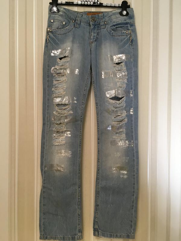 Супер джинсы, /серебряное стойкое напыление/бренд