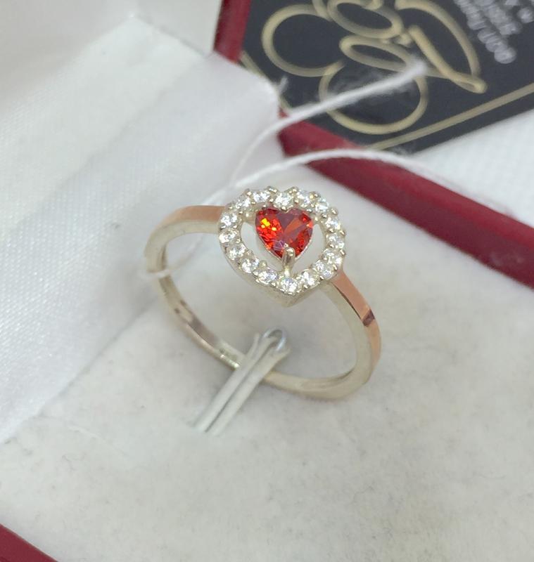 Новое серебряное кольцо зол.пластины куб.цирконий серебро 925 ...