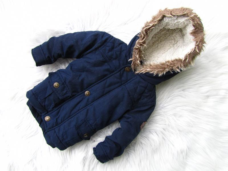 Стильная теплая куртка парка с капюшоном