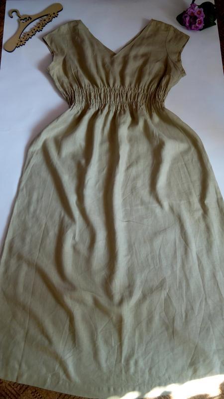 Платье лляное новое  макси в пол нарядное вечернее 54 56 разме...