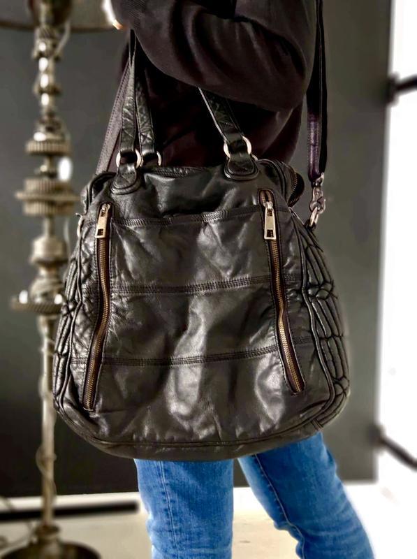 Depeche. большая стильная сумка из натуральной кожи.