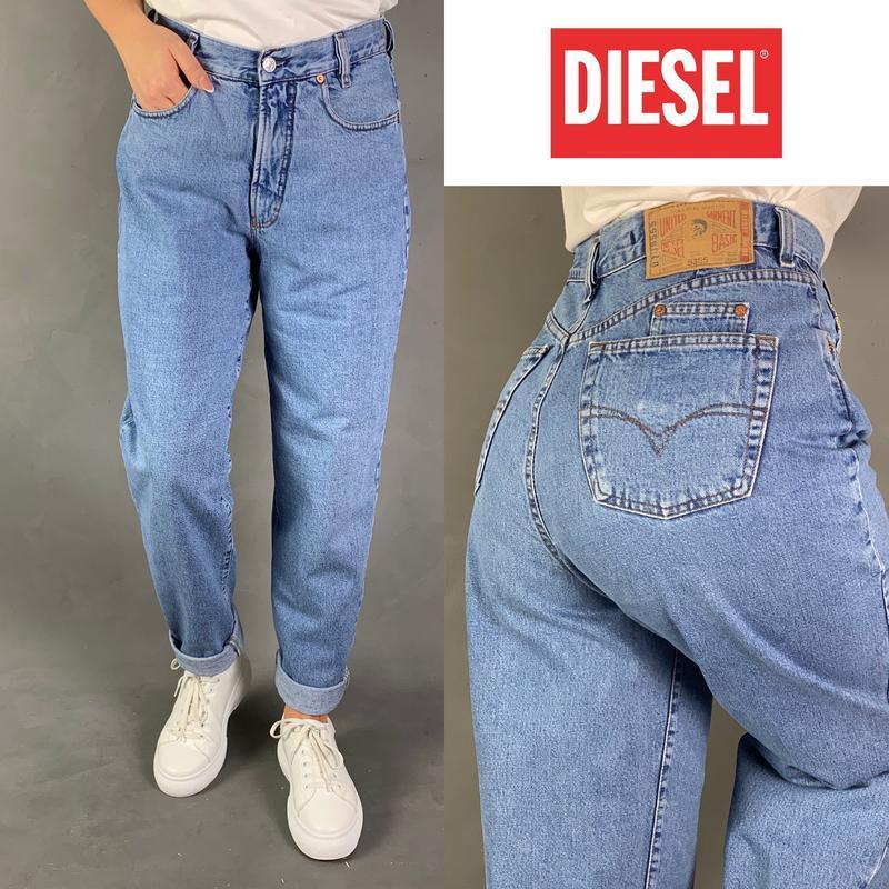 Джинсы момы винтаж высокая посадка mom мом jeans баталы diesel.