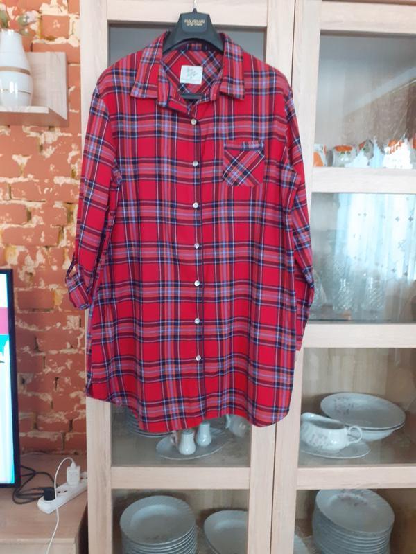 Милое котоновое платье рубашка большого размера