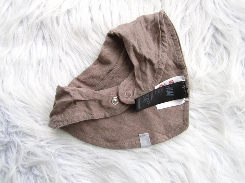 Слюнявчик шарф  на кнопке h&m. - Фото 2