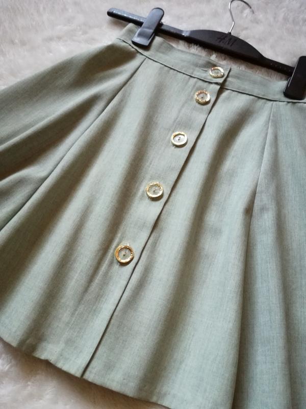 Шерстяная юбка на пуговицах размер 34-36 германия
