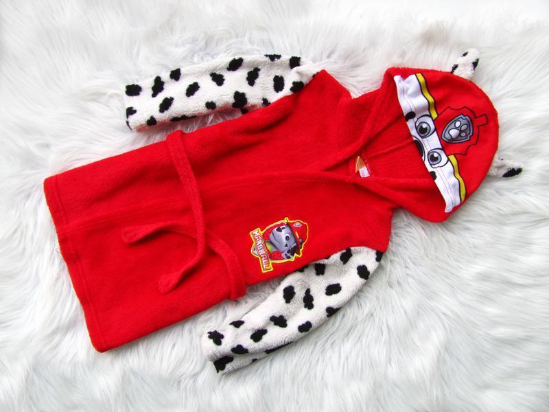 Стильный халат с капюшоном paw patrols marshal