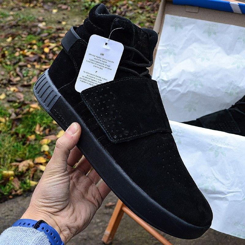 """Зимние мужские кроссовки adidas tubular invader winter """"black""""..."""