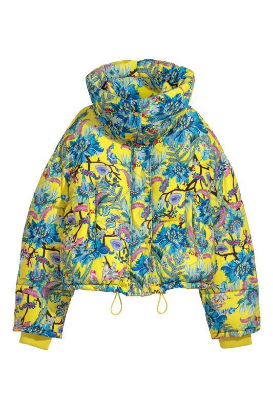 Трендовая премиум куртка с воротником-пристежкой цветочный при...