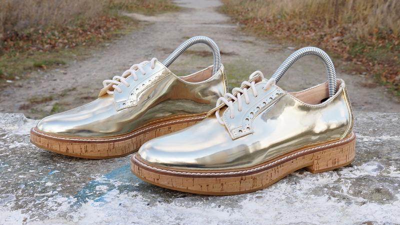 Жіночі туфлі mango metallic oxford
