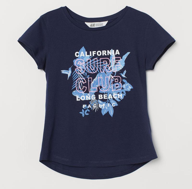 H&m футболка для девочки на 8-10 лет