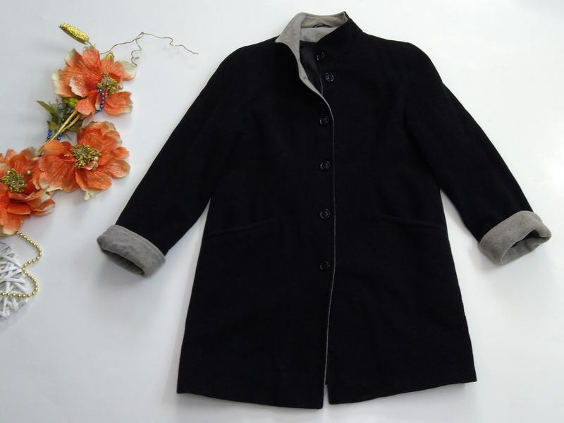 Пальто женское кашемировое весна - осень размер 40 - Фото 6