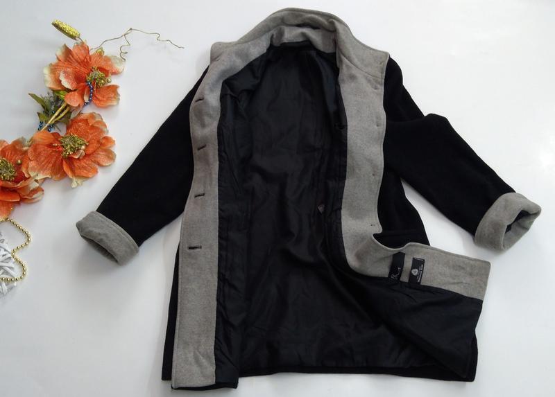 Пальто женское кашемировое весна - осень размер 40 - Фото 7