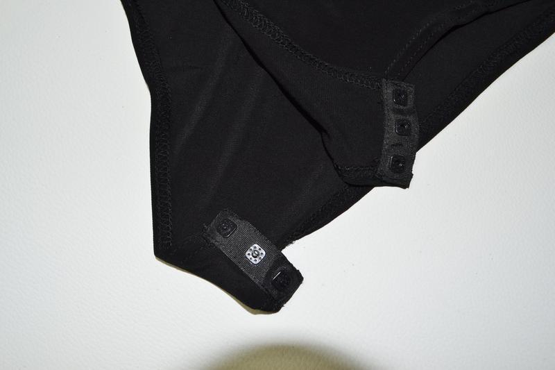 Боди блуза с воланами с длинным рукавом металлик - Фото 4