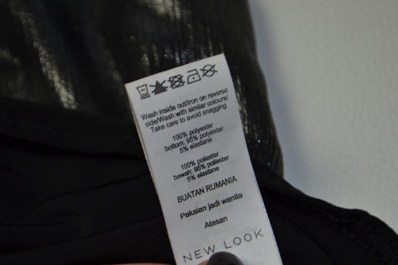 Боди блуза с воланами с длинным рукавом металлик - Фото 7
