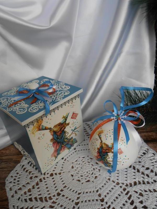 Интрьерный шар в коробе авторская работа - Фото 2