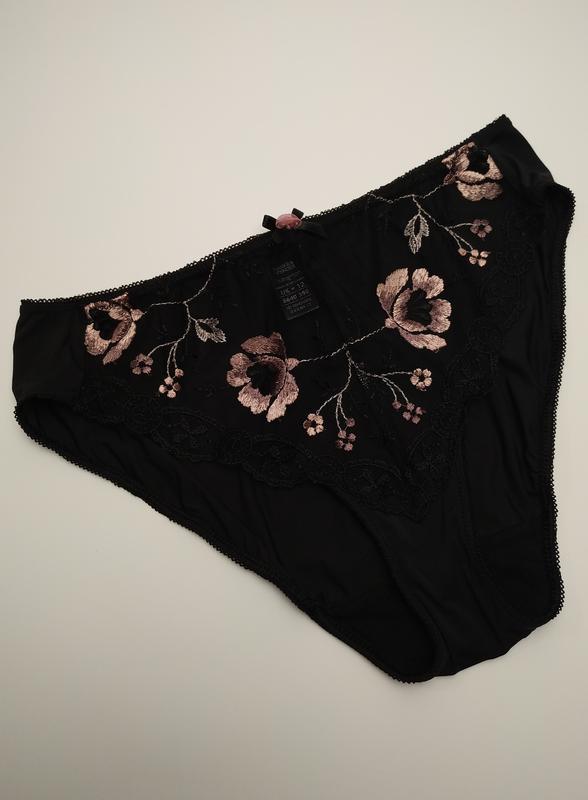 Трусики сексуальный сеточка вышивка marks&spencer uk 12/40/m