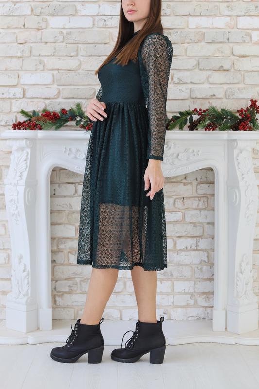 Оригинальное вечернее платье-миди