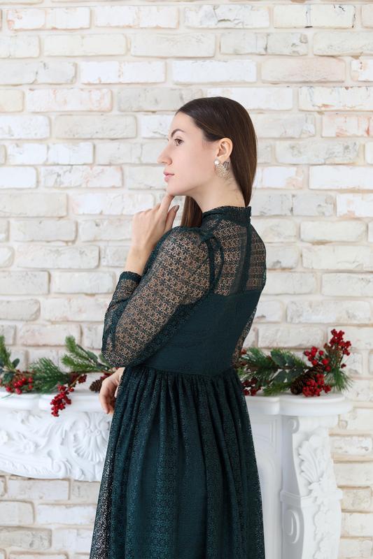 Оригинальное вечернее платье-миди - Фото 3