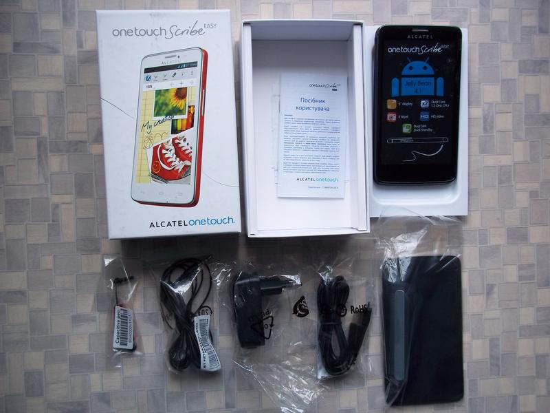 Смартфон  ALCATEL ONETOUCH Scribe Easy 8000D (Black)