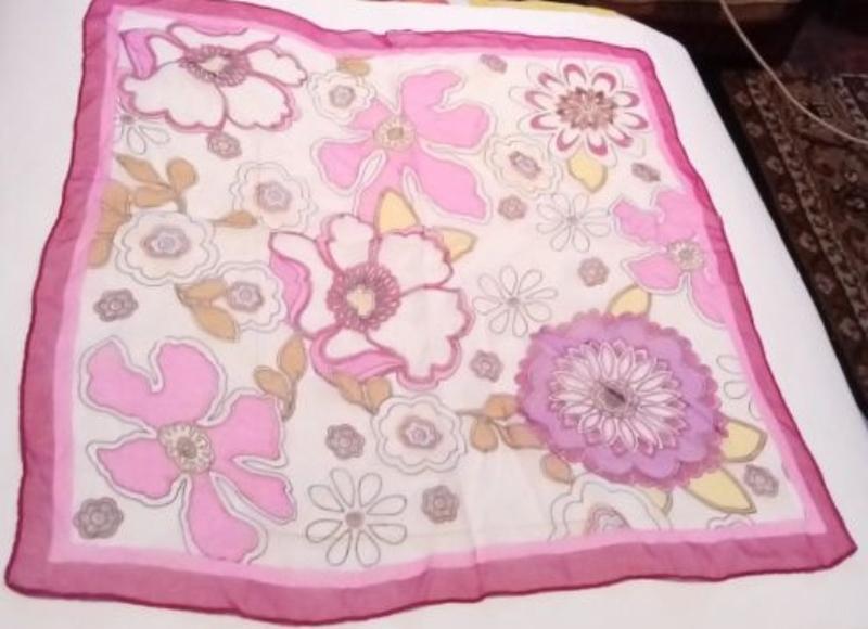Розовый Платочек На сумочку