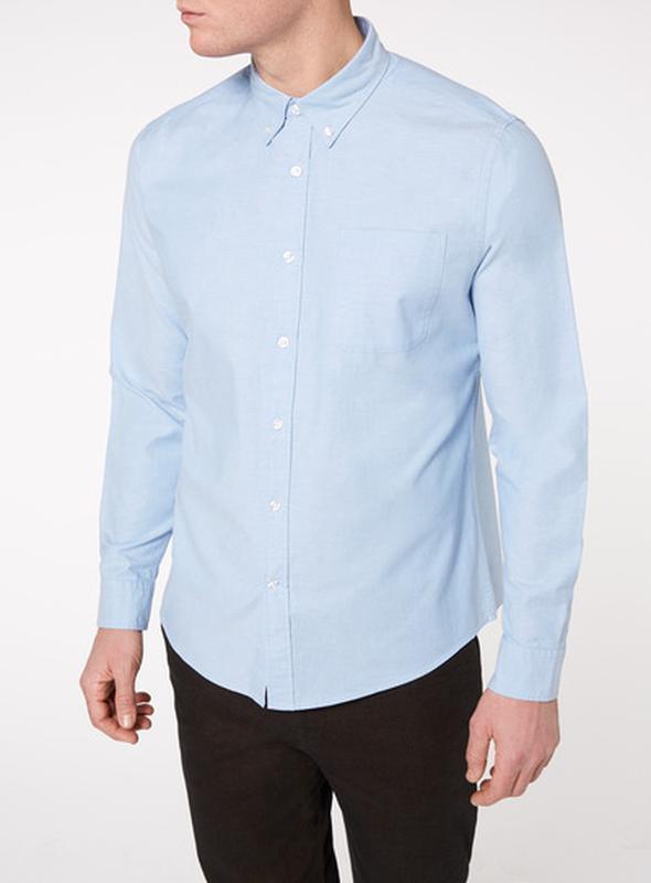 Классная фирменная голубая рубашка размера xxl-xxxl