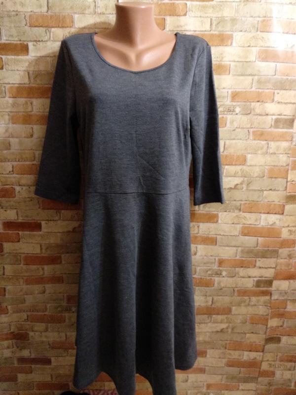Новое серое базовое платье 52-54 размера