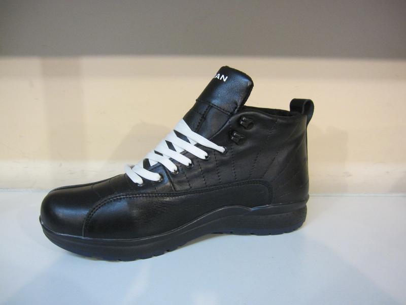 Мужские кожаные зимние ботинки/кроссовки - Фото 3