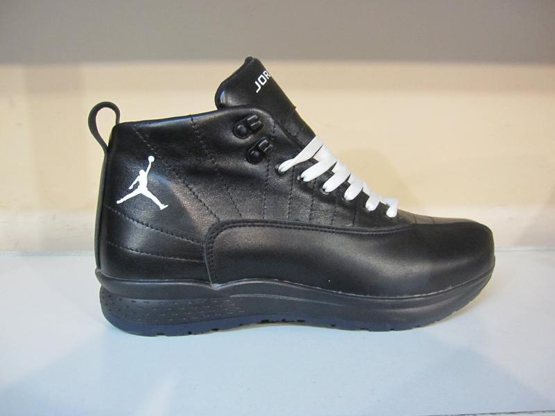 Мужские кожаные зимние ботинки/кроссовки - Фото 5
