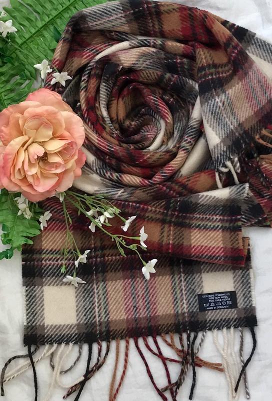 Мягкий ♥️😎♥️ длинный шерстяной шарф в клетку германия.